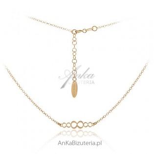 Biżuteria srebrna: Naszyjnik 925 pozłacany Nieskończoność