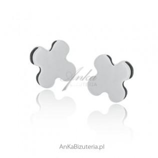 Kolczyki srebrne koniczynki Made in Italy