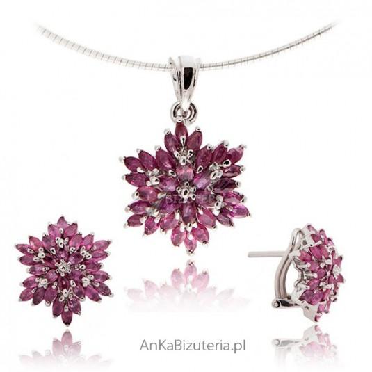 Biżuteria srebrna z kamieniami szlachetnymi: Biżuteria z rubinem -CERTYFIKAT!