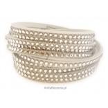 Biżuteria Swarovski: Piękna bransoletka z kryształami Swarovski -biała