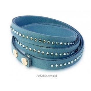 Swarovski biżuteria - bransoletka z kryształami Swarovski niebieska