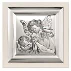Obrazek srebrny: Obrazek z Aniołkami - Prezent dla Dziecka
