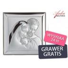 Święta Rodzina obrazek srebrny Wyjątkowo piękny na prezent GRAWER