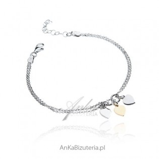 Srebrna bransoletka Serduszka - Piękna biżuteria włoska