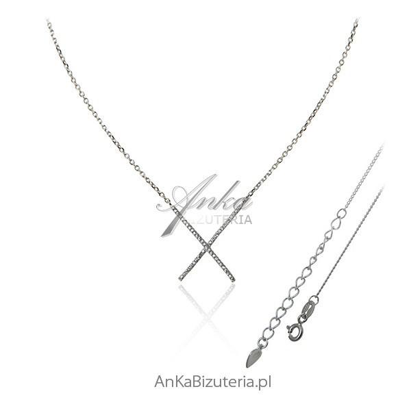 979b03c615 srebrny naszyjnik z cyrkoniami