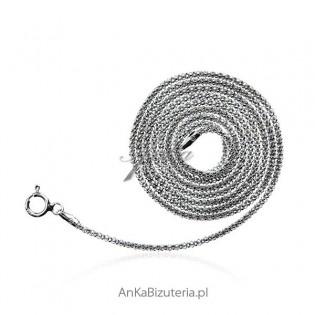 Łańcuszek srebrny rodowany włoski Coreana : 45 cm oraz 60 cm