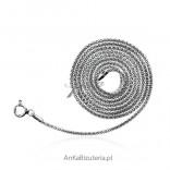 Łańcuszek srebrny rodowany włoski Coreana 55cm, 60 cm, 65 cm,70 cm, 80 cm