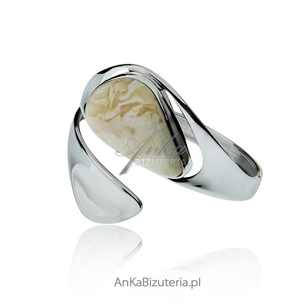 Biżuteria srebrna bursztyn