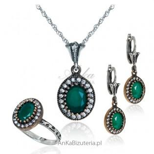 Komplet biżuterii z szmaragdami - Kolekcja wiedeńska