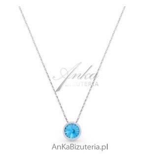 Naszyjnik srebrny Swarovski Aqua