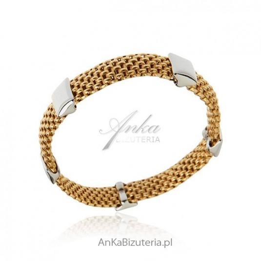 Biżuteria srebrna: Bransoletka srebrna włoska