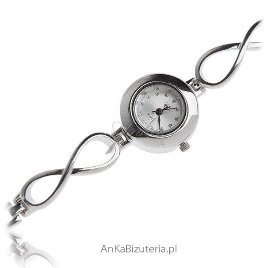 Zegarek srebrny : Elegancka biżuteria damska
