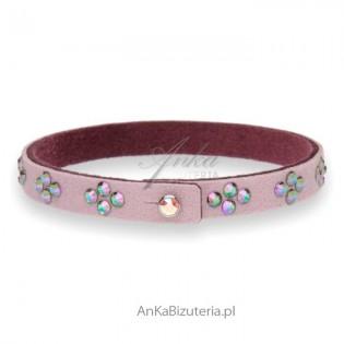 Biżuteria Swarovski Bransoletka w kolorze lila