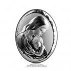 Obrazek srebrny Madonna z Dzieciątkiem Grawer Gratis