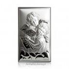 Aniołki Obrazek srebrny Pamiątka dla dziecka Grawer Gratis
