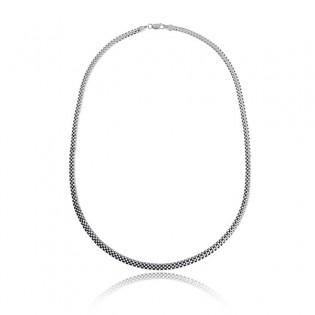 """Naszyjnik - łańcuszek srebrny """"Tulipan"""" o długości 43 cm"""