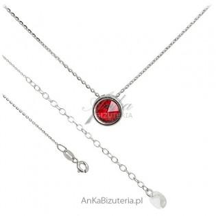 Biżuteria Swarovski - Naszyjnik Swarovski kolor czerwony