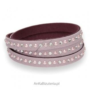 Biżuteria Swarovski - Bransoletka w kolorze lila róż