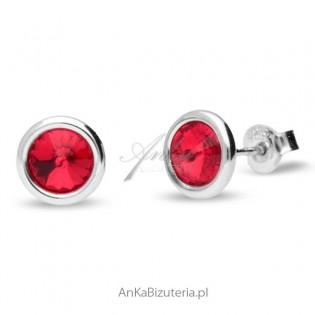 Biżuteria Swarovski - Kolczyki TINY BONBON - czerwone