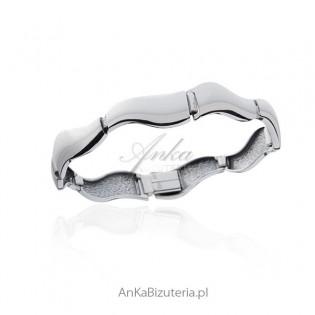 Bransoletka srebrna - Fala