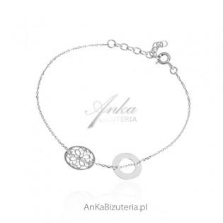 Bransoletka srebrna MOdna biżuteria dla kobiet
