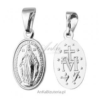 Medalik Matka Boska Cudowna srebro -Duży