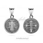 Medalik Św. Benedykt - Srebrny medalik