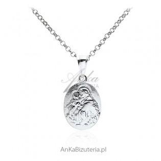 Medalik srebrny - Św. Antoni
