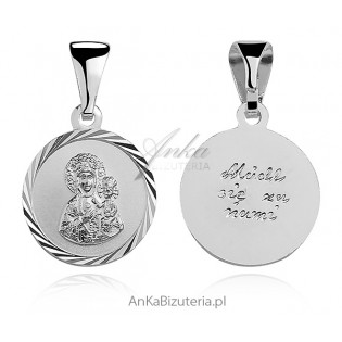 Matka Boska Częstochowska -Medalik srebrny