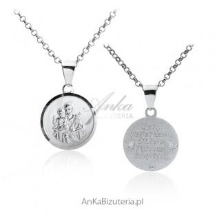 Medalik srebrny Ojciec Pio
