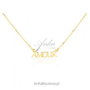 Naszyjnik srebro pozłacane AMOUR - Biżuteria na prezent