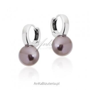 Kolczyki srebrne perły