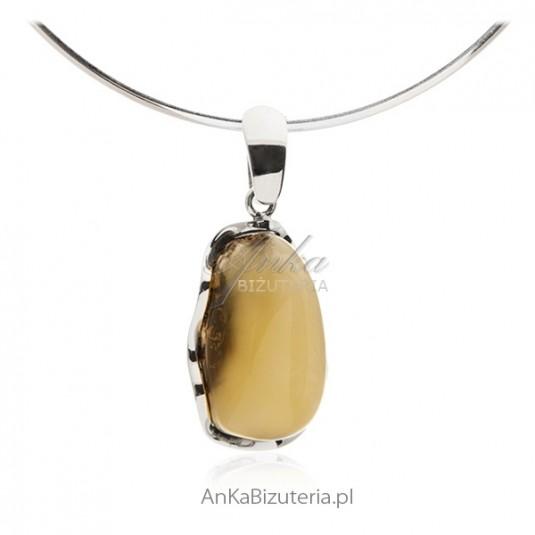 Unikatowa biżuteria z bursztynu Srebro pr 925