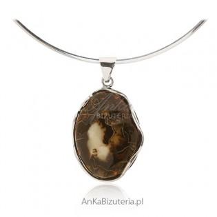 Zawieszka srebrna z bursztynem - Oryginalna biżuteria