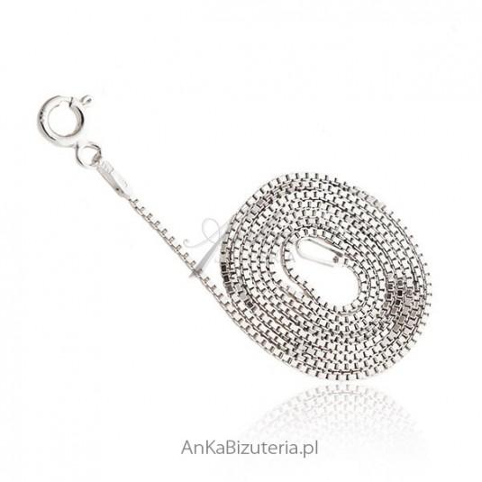 Łańcuszek srebrny Wenecja - kosteczki 1,0