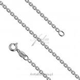 Łańcuszek srebrny Rolo diamentowany 0,6