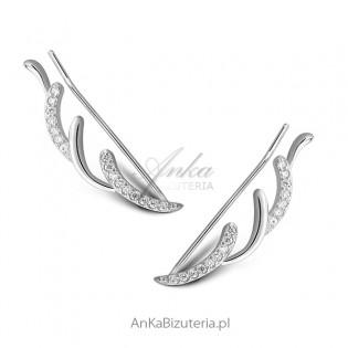 Modna biżuteria srebrna Kolczyki Nausznice