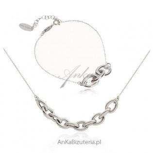 Komplet włoskiej biżuterii srebrnej