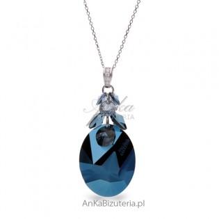 Piękny naszyjnik kryształem Swarovski Zaprojektowany i sygnowany JP Gaulltier