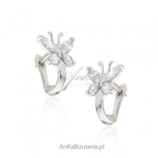 Biżuteria dziecięca Kolczyki dla dziewczynek motylki