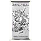 Obrazek srebrny Aniołki nad dzieckiem 6 CM x 12 CM