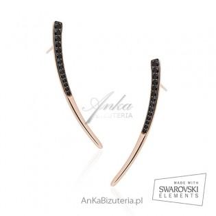 Ekskluzywna biżuteria damska - Kolczyki srebrne pozłacane