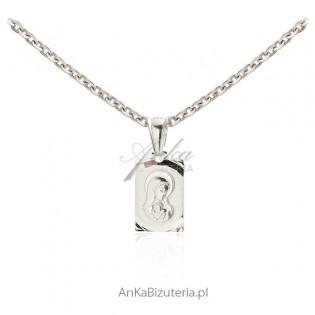 Madonna z Dzieciątkiem - Medalik srebrny