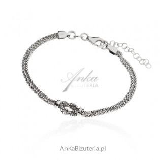 Bransoletka srebrna włoska
