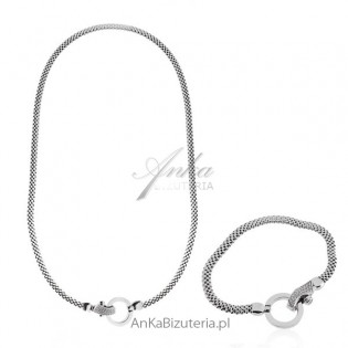 Komplet biżuterii srebrnej Swarovski - Biżuteria włoska