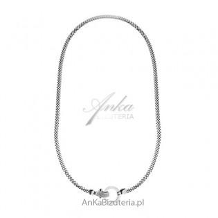 Naszyjnik srebrny Swarovski - Modna biżuteria włoska