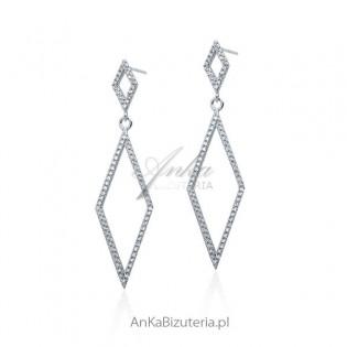 Biżuteria ślubna: Kolczyki srebrne cyrkonie