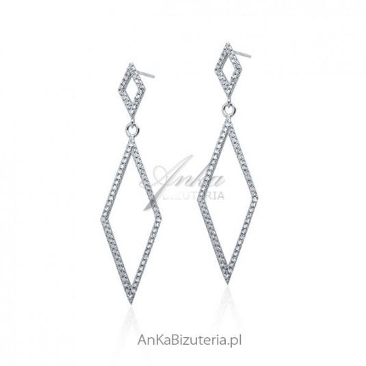 bc4adbdb9bd077 Biżuteria ślubna Kolczyki srebrne cyrkonie sklep