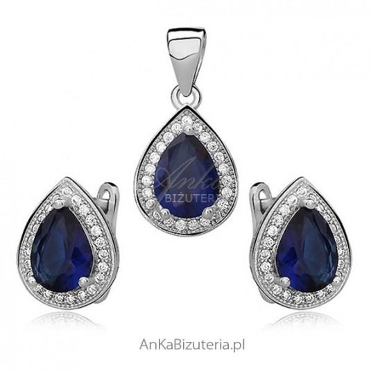 Komplet biżuteria srebrna Markizy