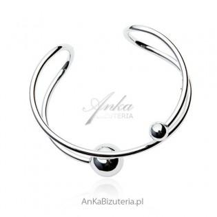 Piękna bransoleta srebrna z kulami